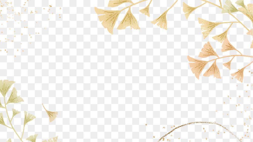 Ginkgo leaves png frame design