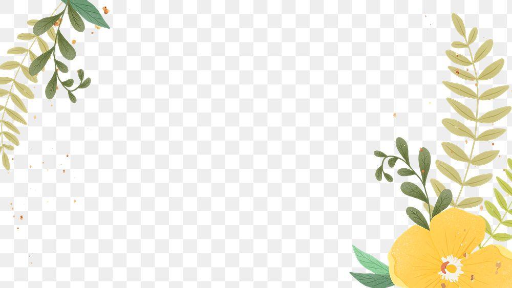 Png flower and leaf frame design