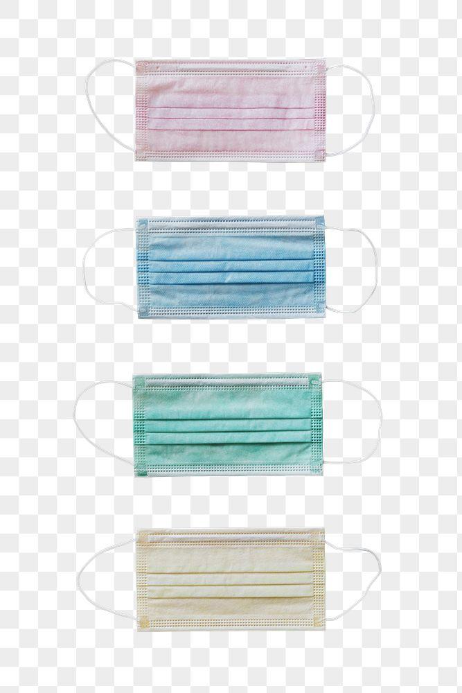 Surgical masks set transparent png