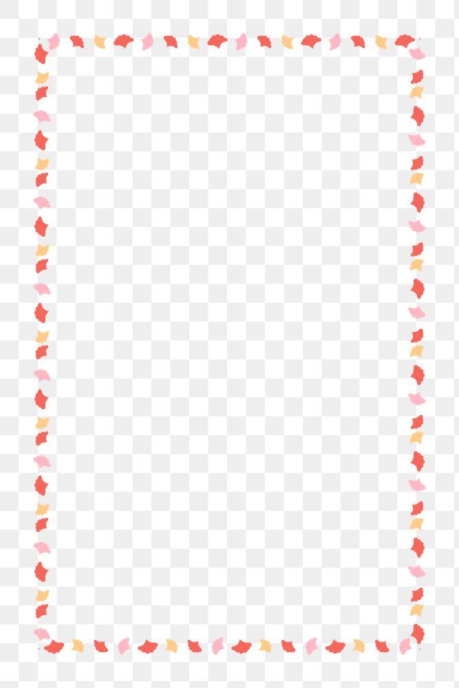 Red floral frame design element