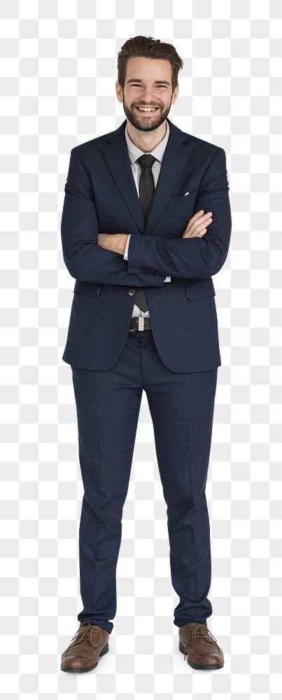 Happy smart businessman transparent png