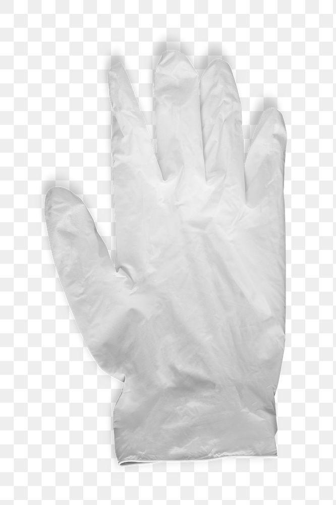 White latex gloves to prevent coronavirus contamination transparent png