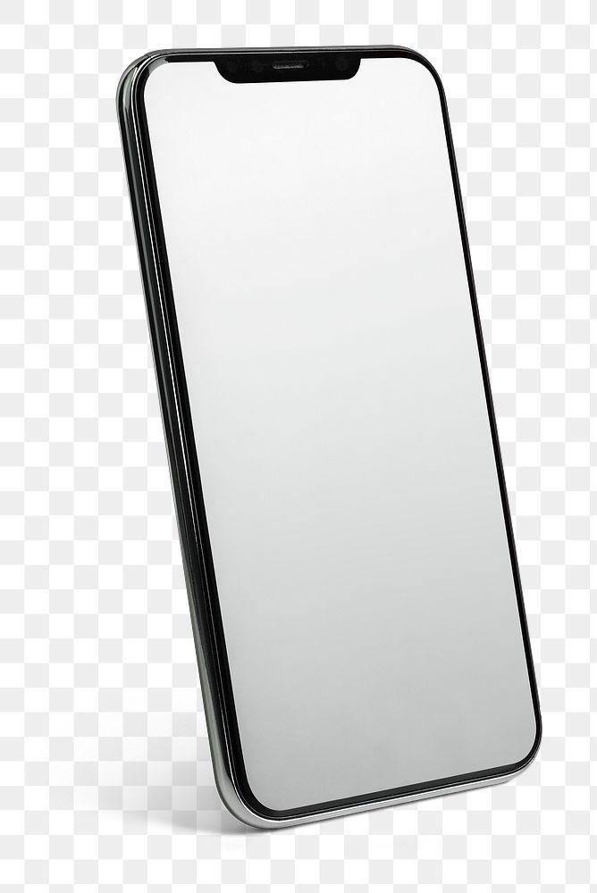 Black smartphone screen mockup background