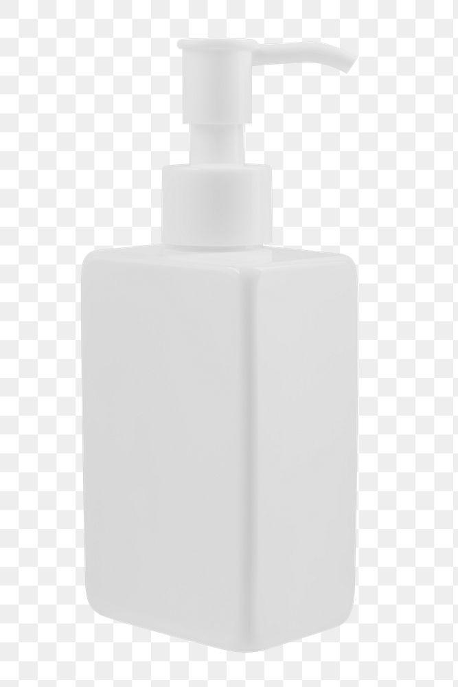 Blank white pump bottle design element