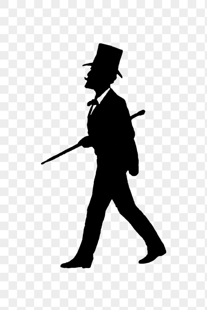 Drawing of a gentleman silhouette