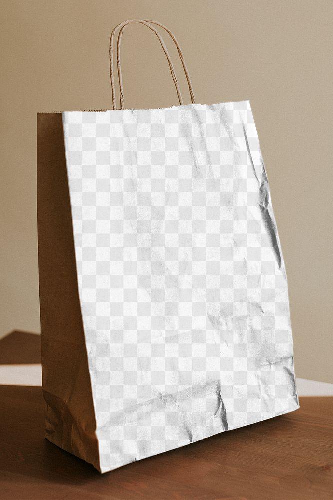 Natural brown paper bag design element