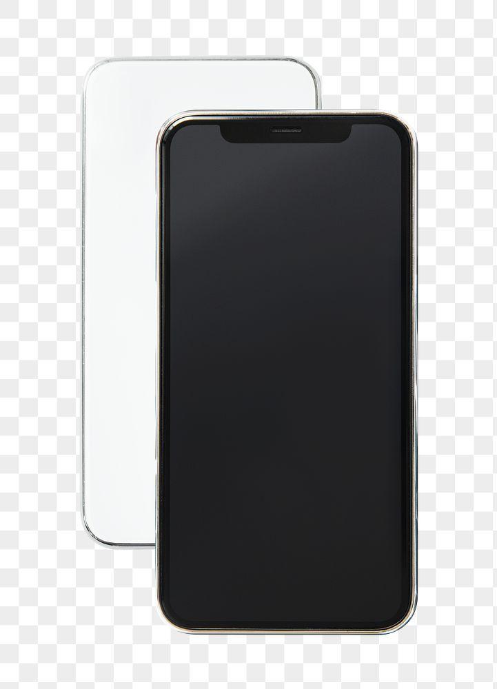 Cellphone screen mockups transparent png