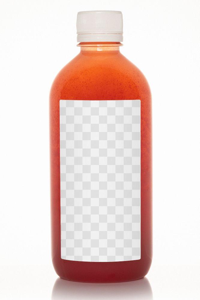 Fresh organic cold juice bottle with label mockup