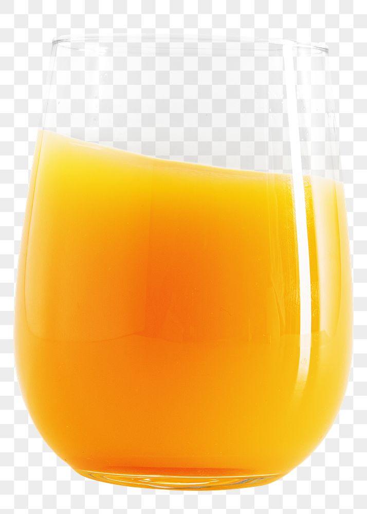 A glass of fresh organic orange juice design element