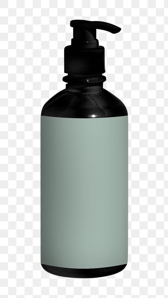 Black skin care bottle design element
