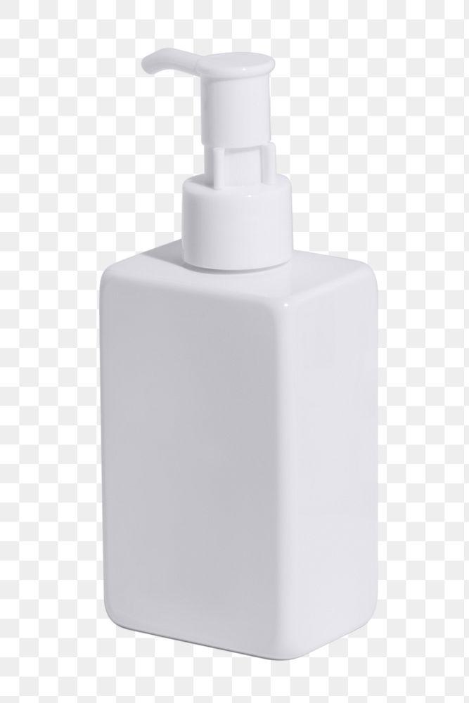 White skincare bottle design element