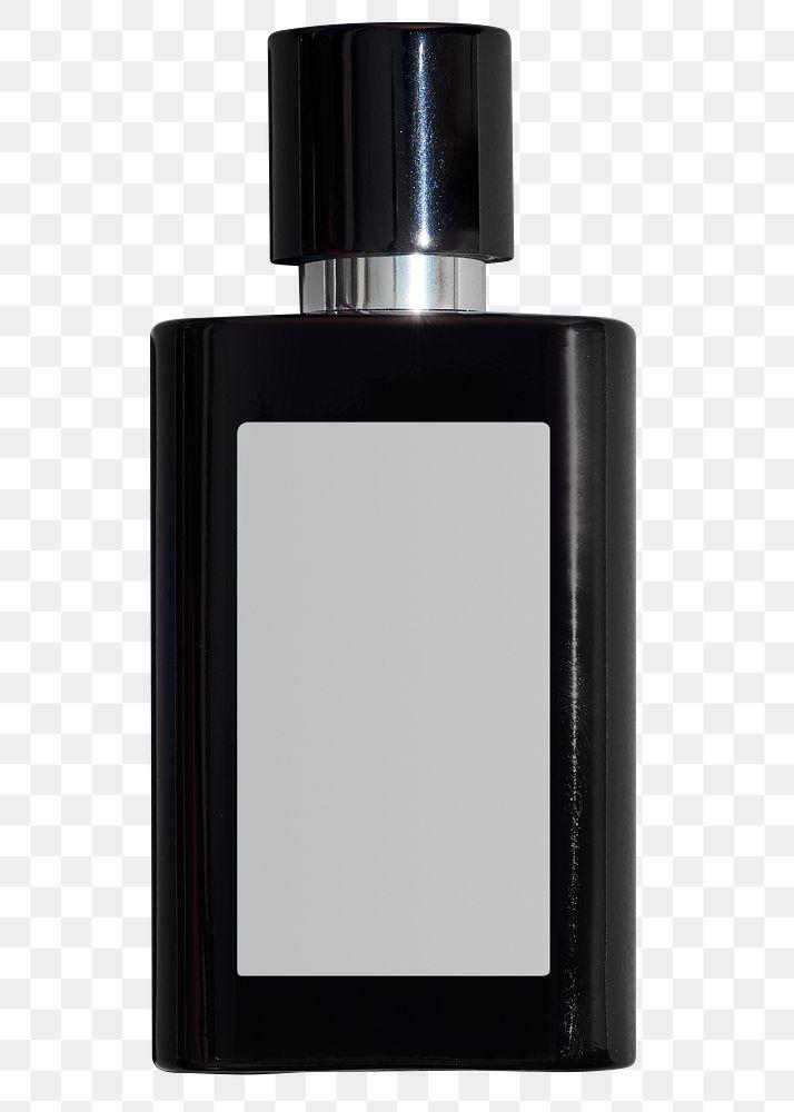 Black perfume glass bottle design element