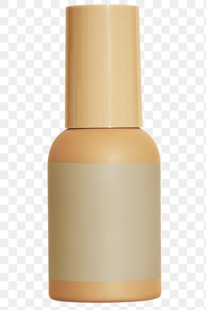 Brown beauty care bottle design element