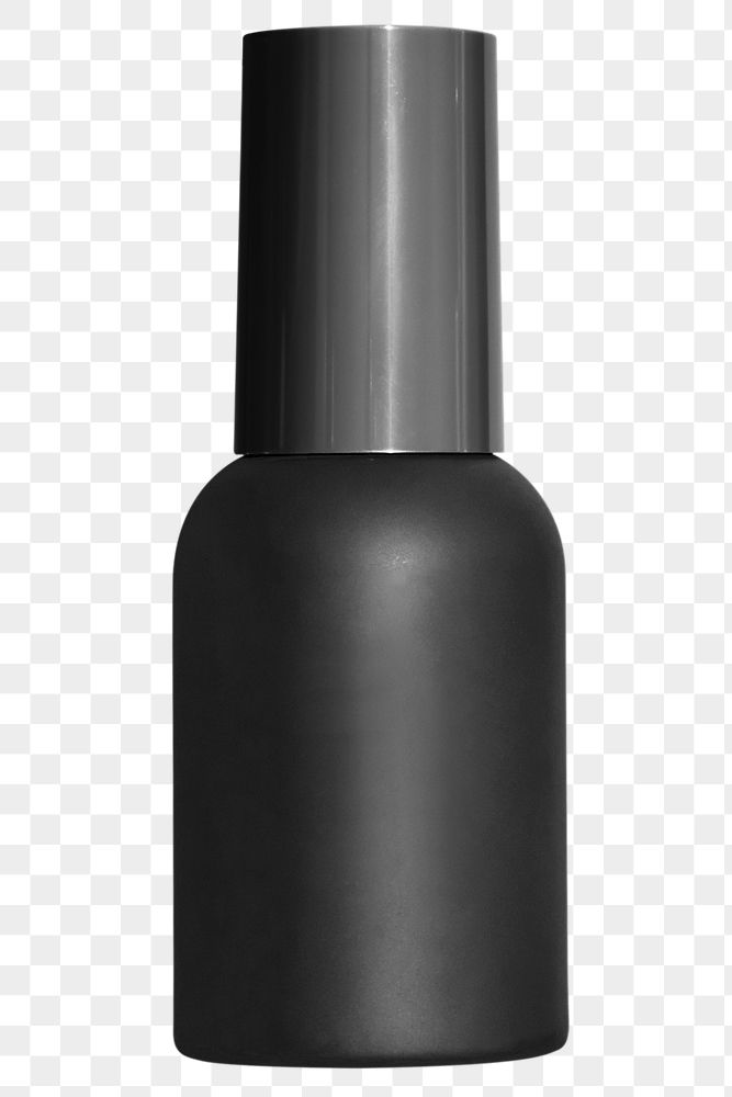 Black beauty care bottle design element