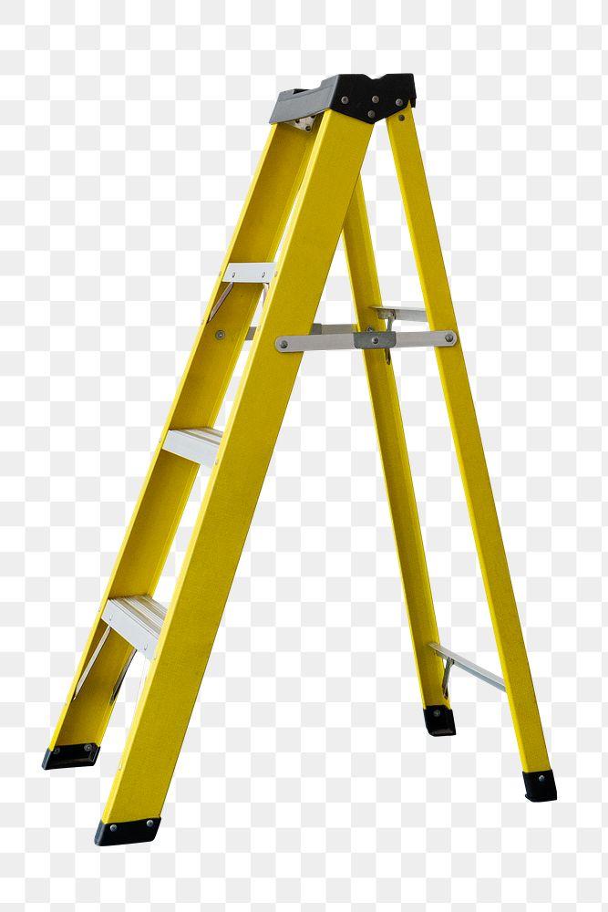 Yellow step ladder design element
