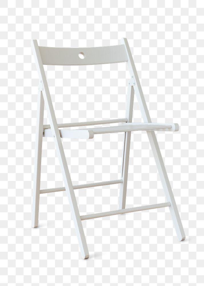 Modern white chair design element