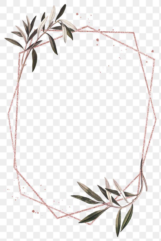 Green olive leaves png frame design space