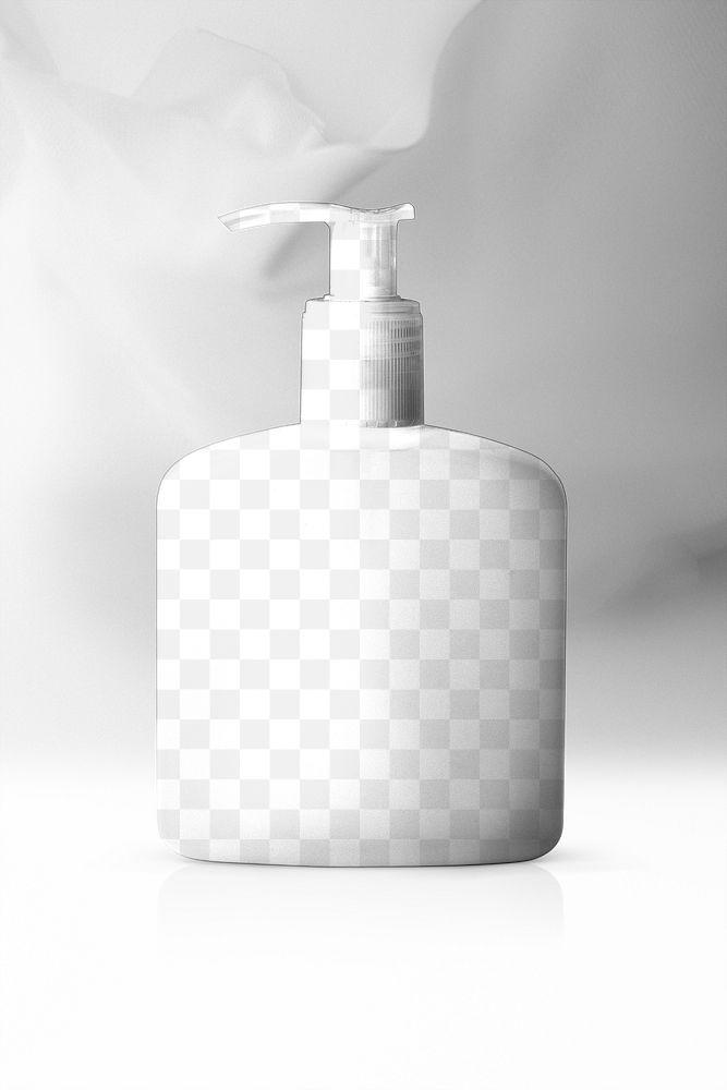 Pump bottle png transparent mockup for shower cream and lotion