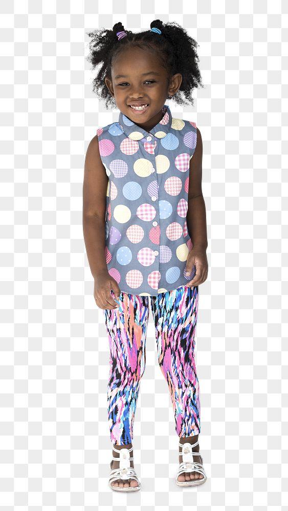 Happy little black girl transparent png