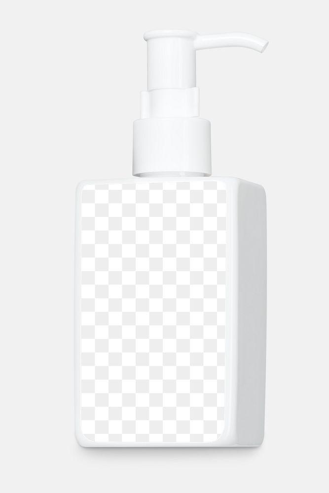 White soap dispenser mockup with clip