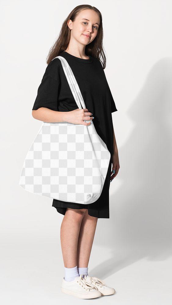Png transparent tote bag mockup basic apparel shoot