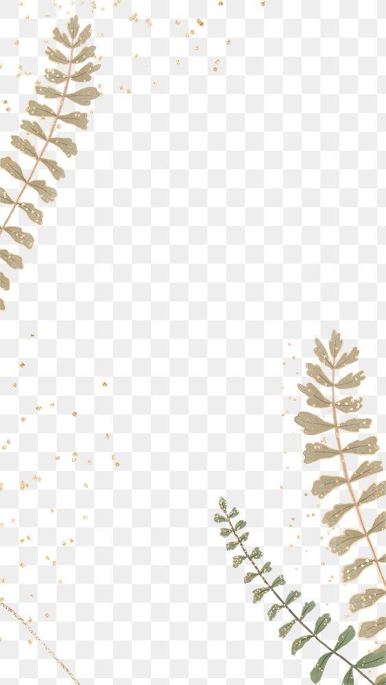 Tropical leaf png frame design