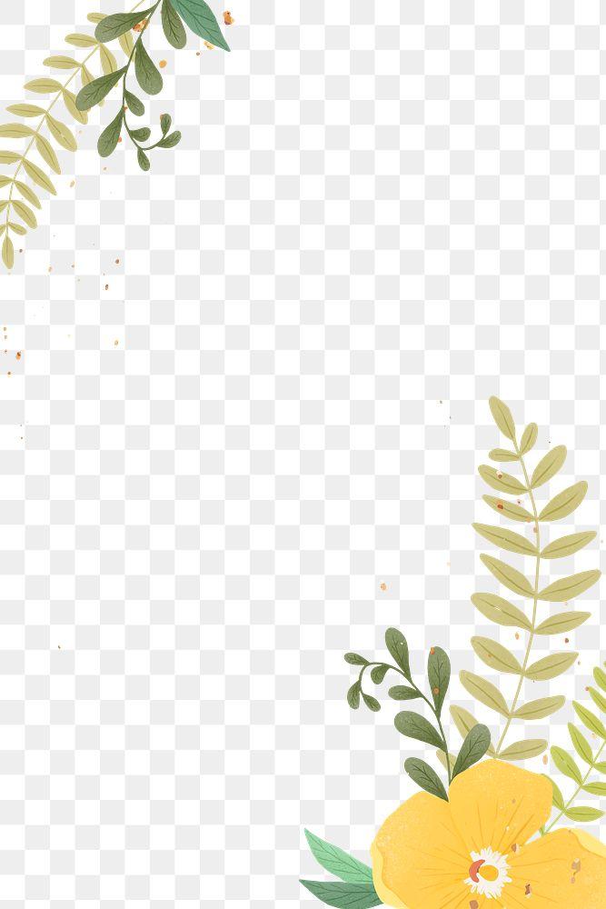 Glitter gold tropical png frame design