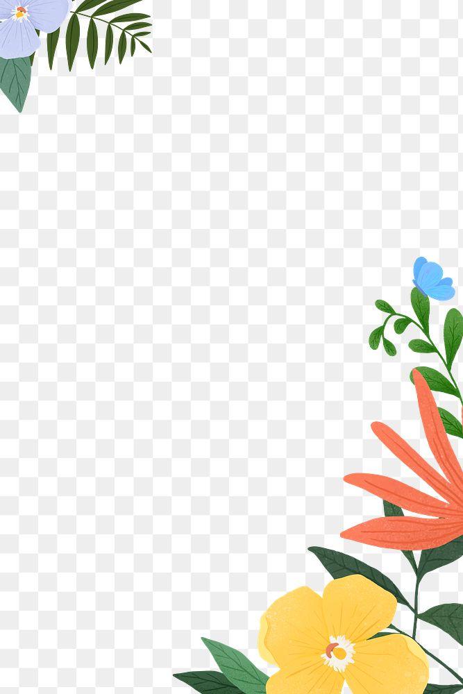Png tropical foliage frame design