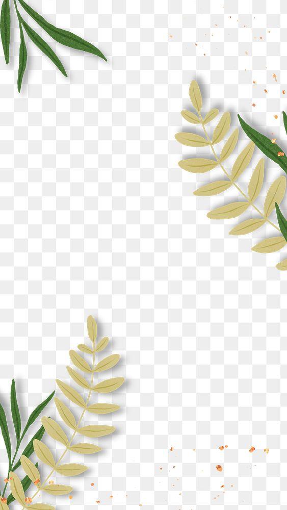 Tropical leaf png glitter frame design