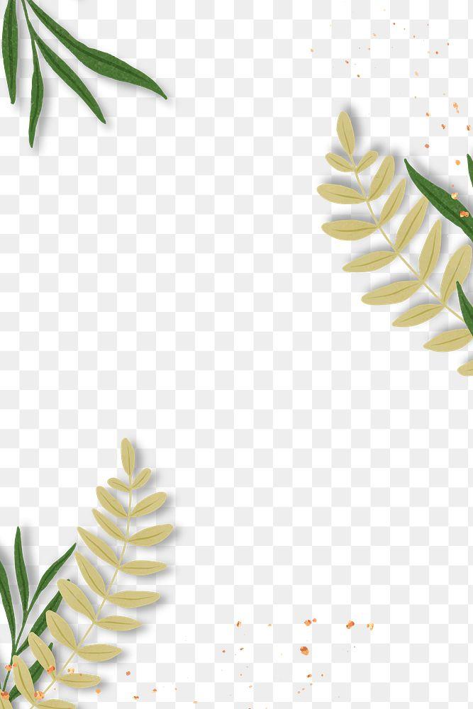 Tropical leaves png frame design