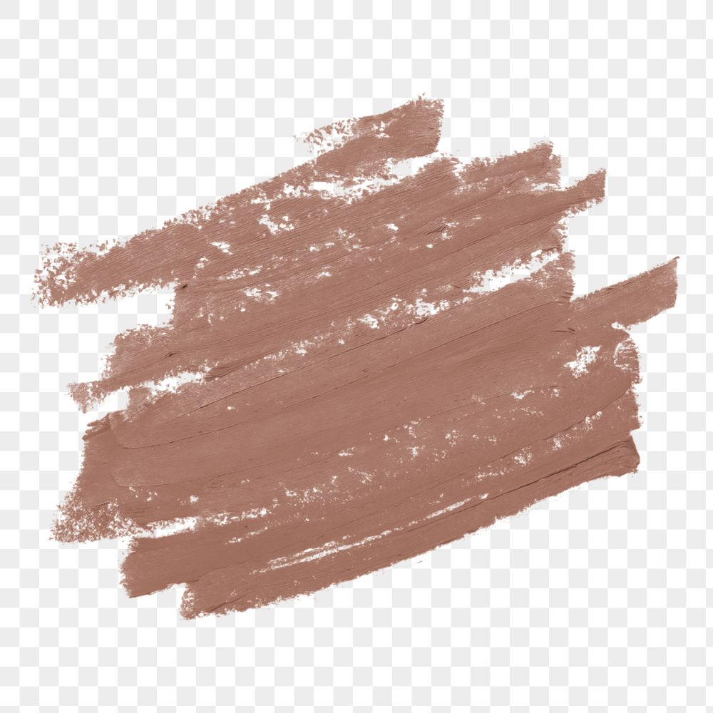 Pastel nude pink paint brush stroke texture badge background
