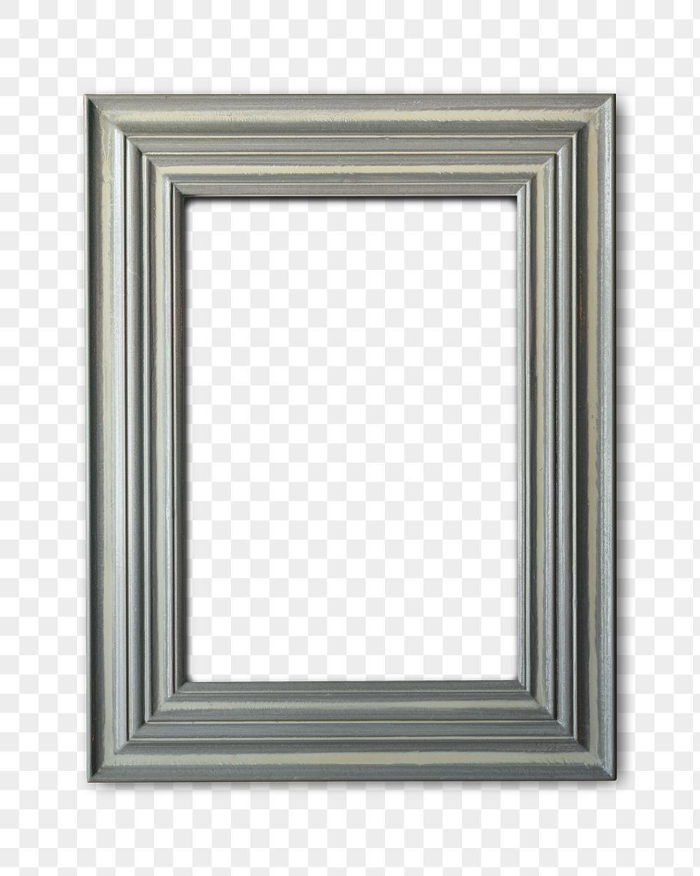 Gray picture frame mockup transparent png