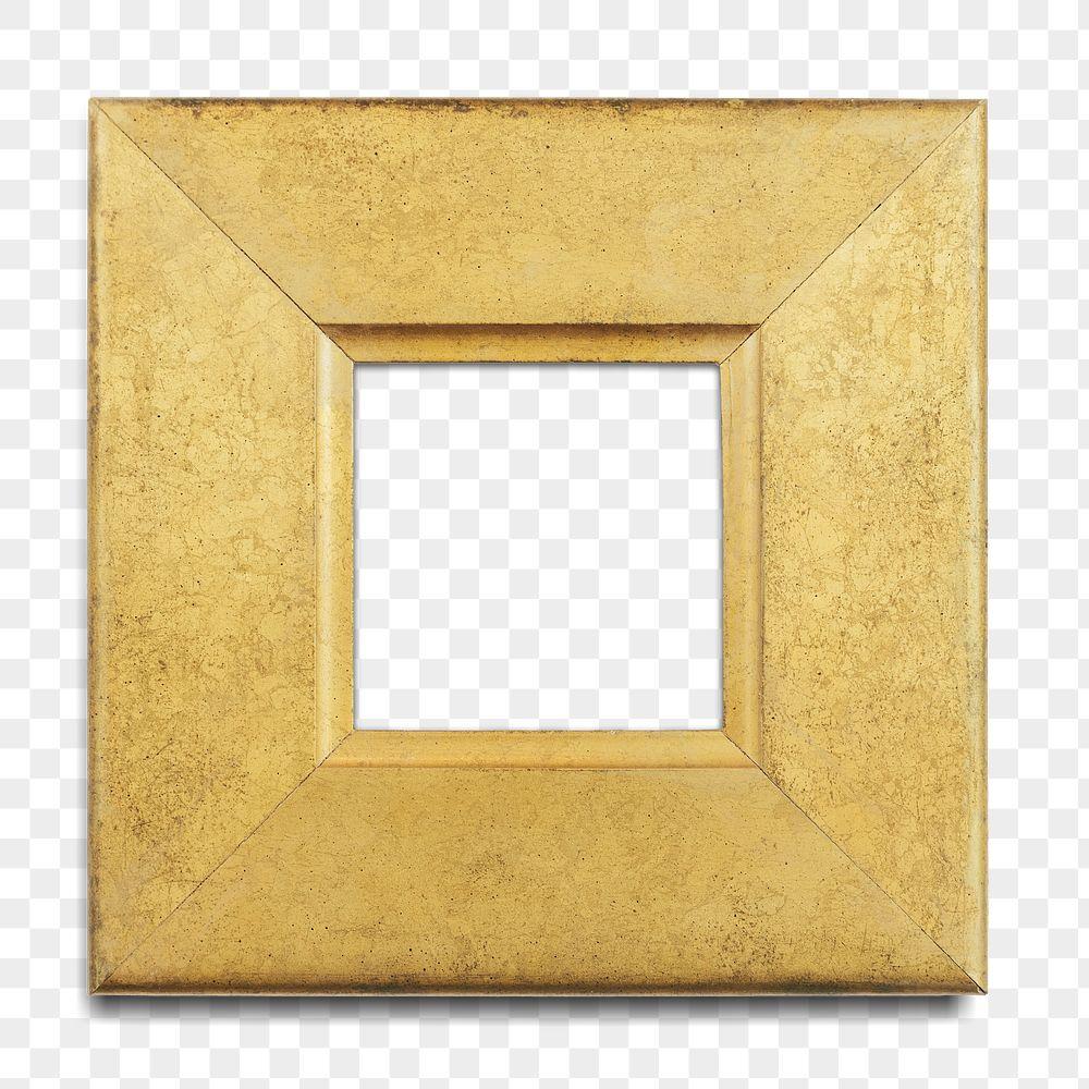 Gold picture frame transparent png
