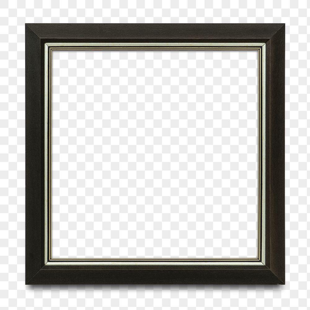 Black picture frame transparent png