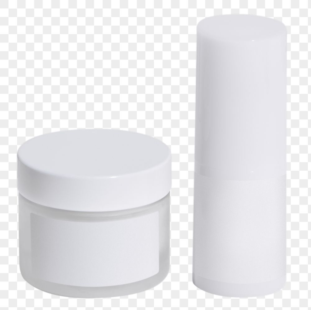 Set of white skin care package design element