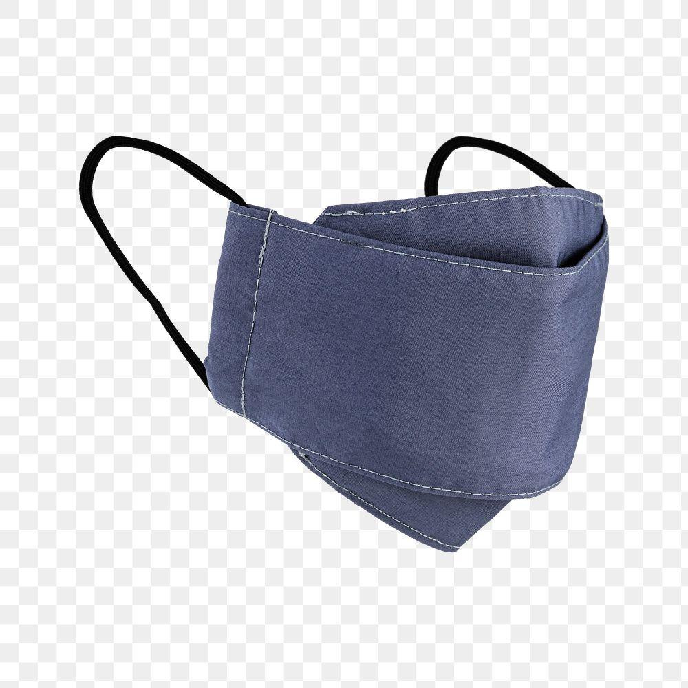 Light purplish-blue fabric face mask design element