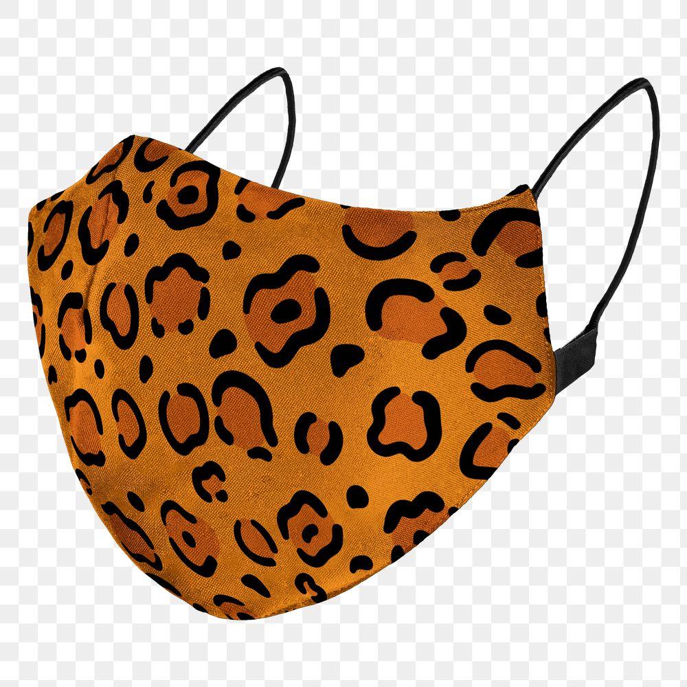 Tiger pasttern fabric mask design element