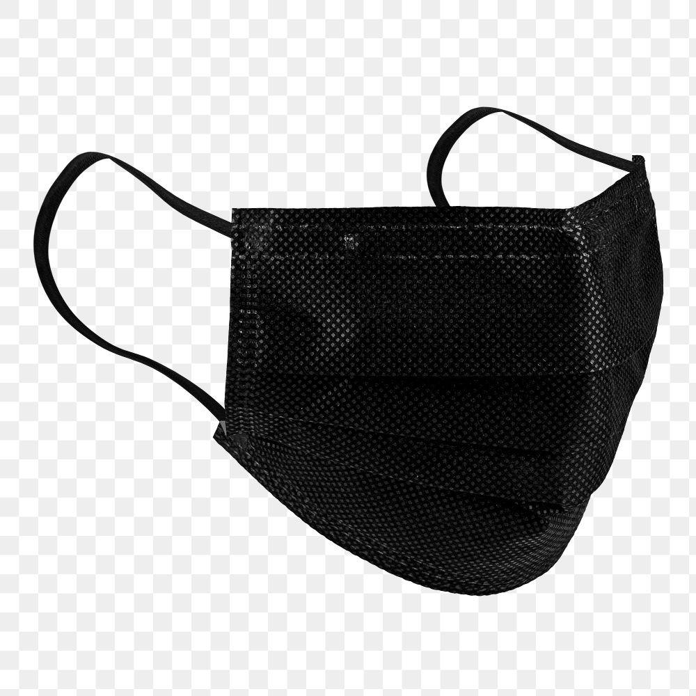 Black protective cloth mask design element