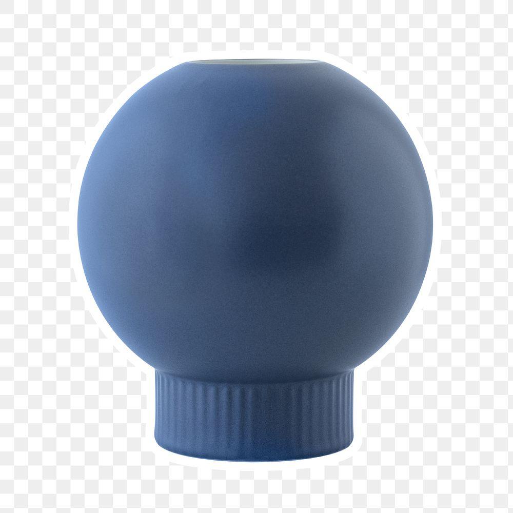 Blue ornamental ball sticker design element