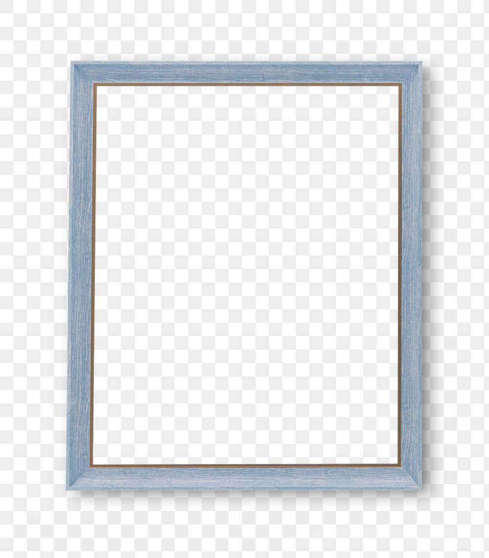 Light blue photo frame mockup