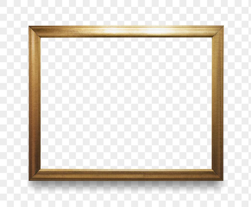 Gold photo frame mockup
