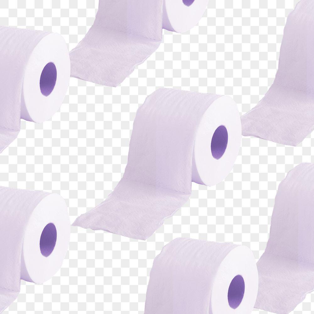 Tissue paper rolls patterned background transparent png