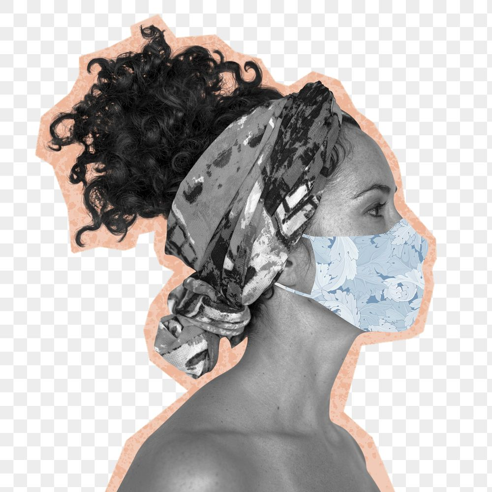 Woman wearing a face mask to prevent coronavirus infection