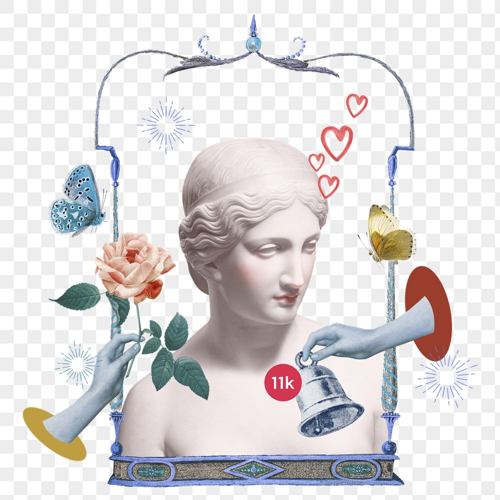 Png Greek goddess statue online dating notification aesthetic mixed media