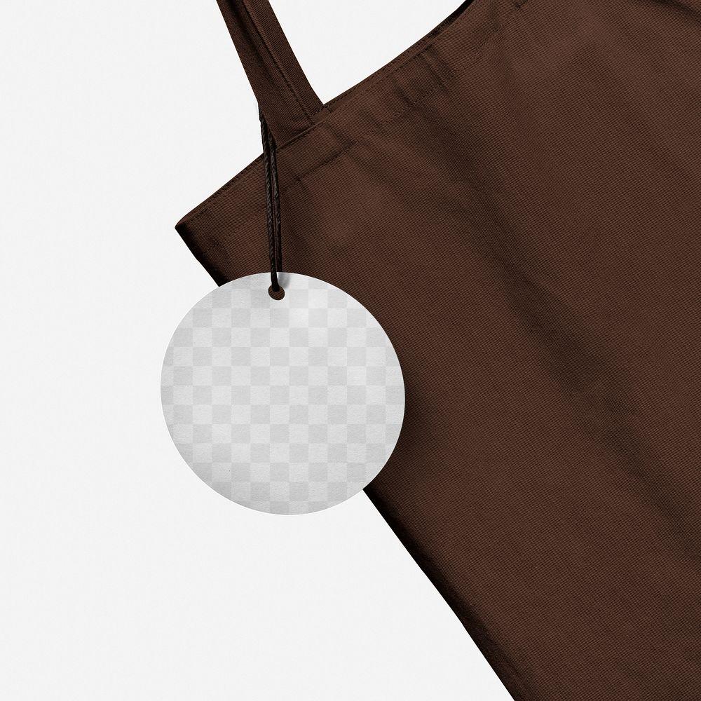 Tote bag mockup png and tag label