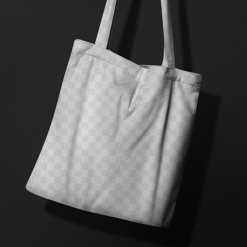 Cool tote bag mockup png in canvas