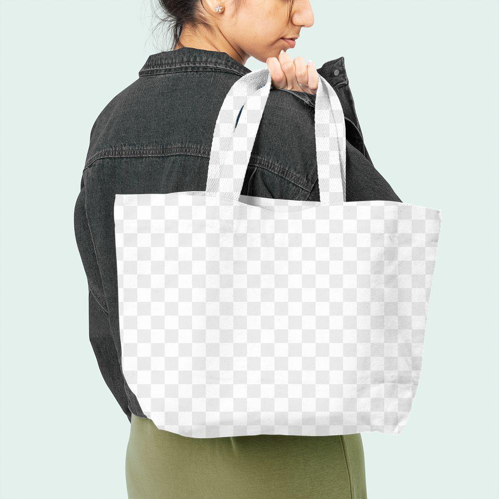Png tote bag transparent mockup accessory studio shoot
