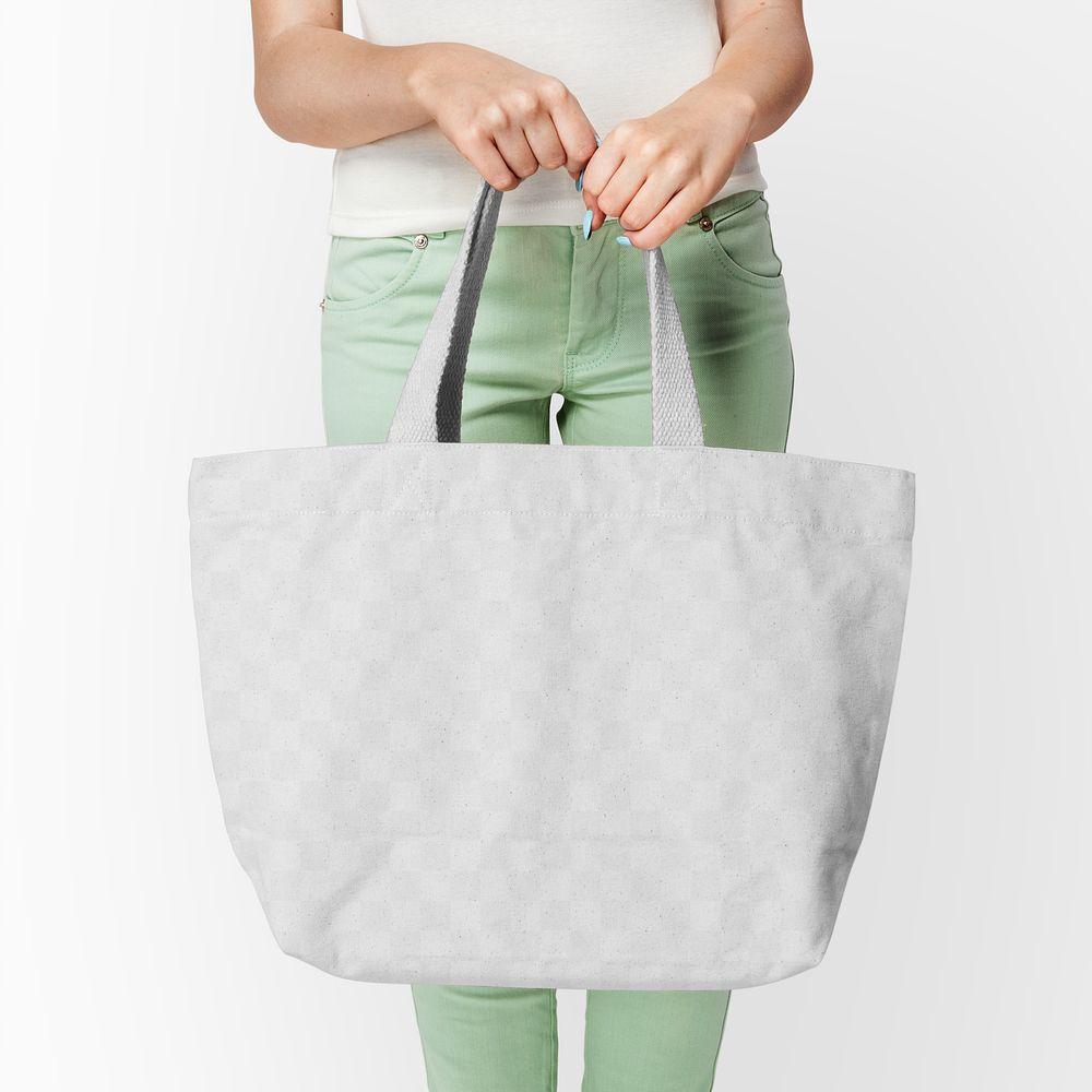 Png canvas tote bag mockup basic apparel shoot