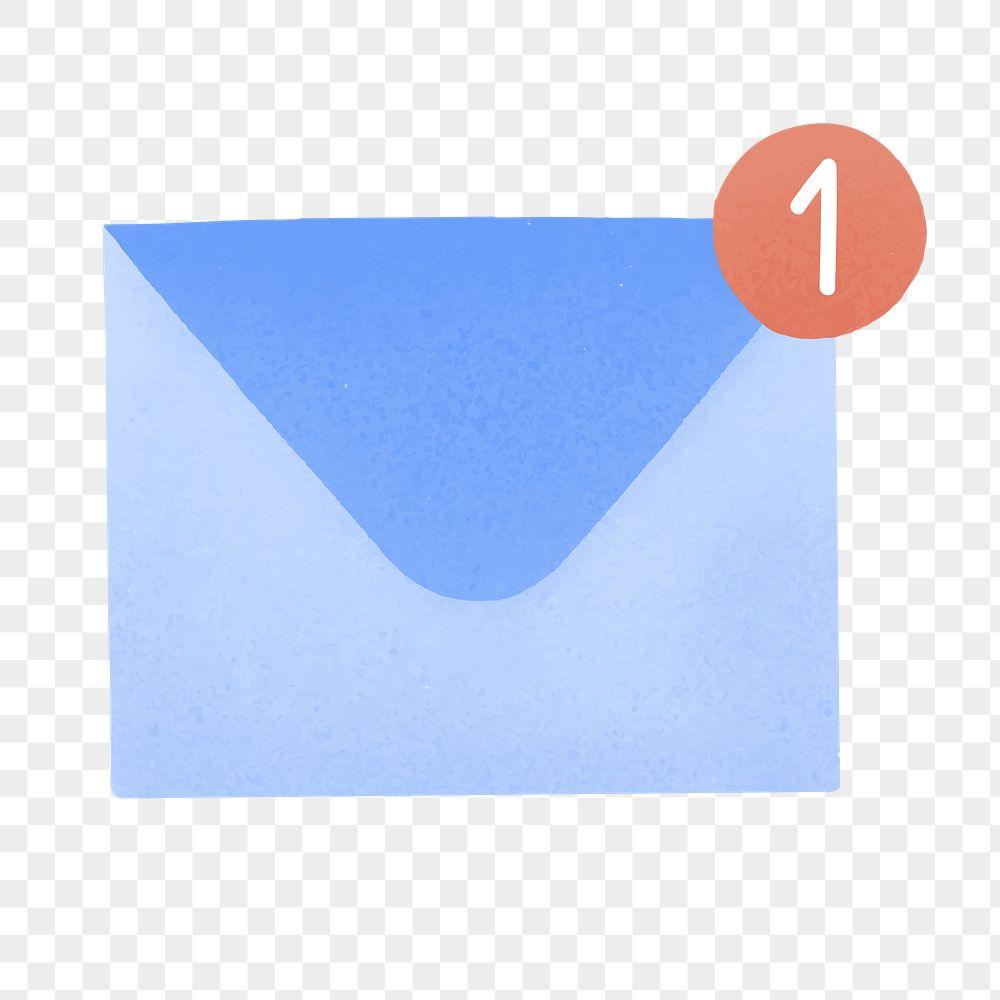 Blue social media inbox template transparent png
