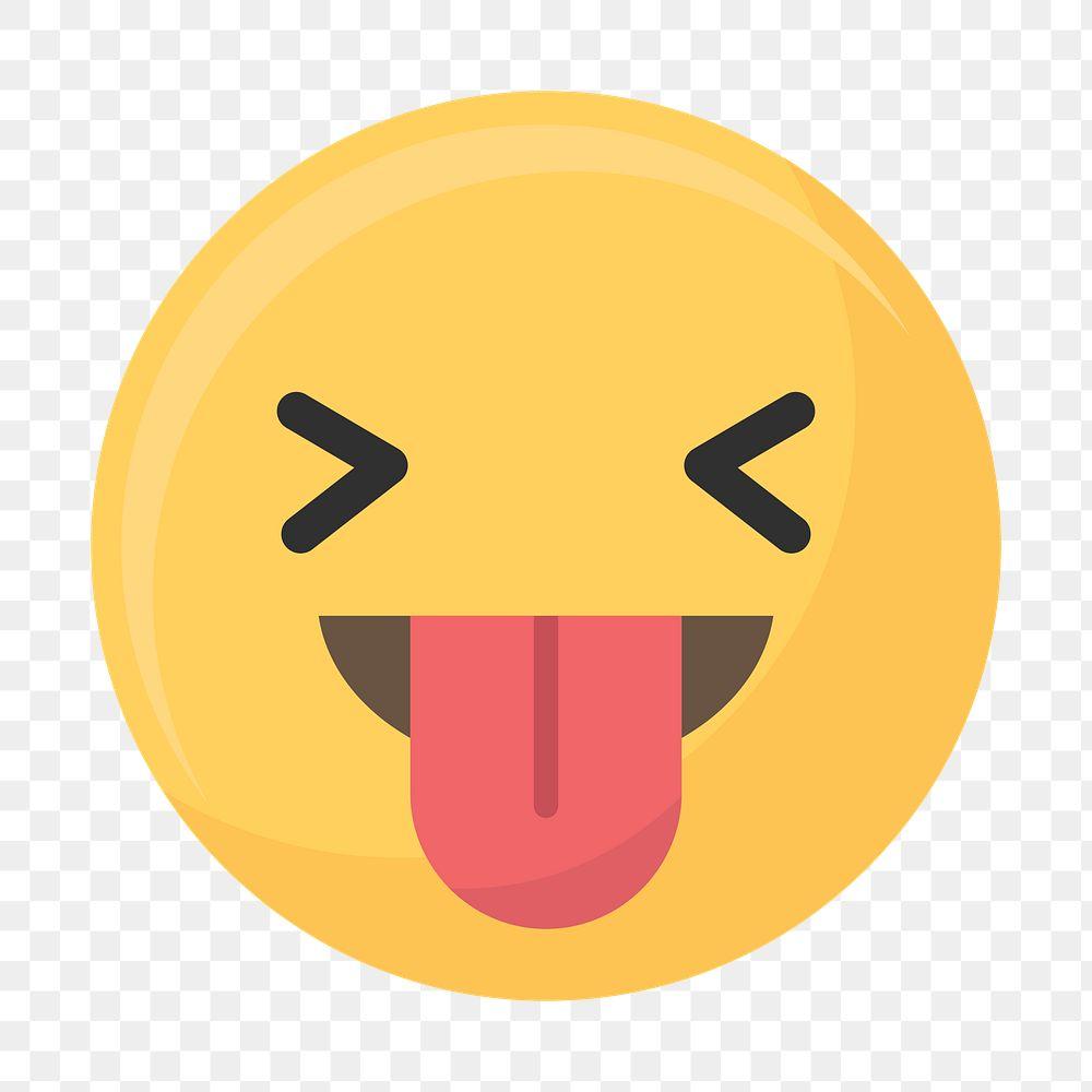Stuck tongue out face emoticon symbol transparent png